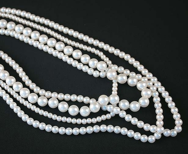 White Beads Necklace