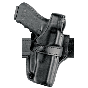 Safariland 070 Mid-Ride Duty Holster, RH, Plain, Black, Ruger P85/P89 - 070-65-161