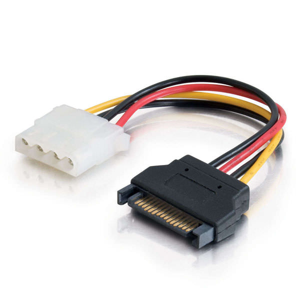 CablesToGo (C2G) 10149 6in 15-pin Serial ATA Male to LP4 Female Power Cable