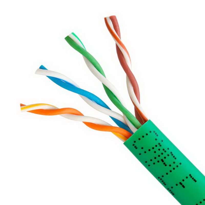 CAT5E BULK ETHERNET LAN NETWORK CABLE - 1000 FT Green