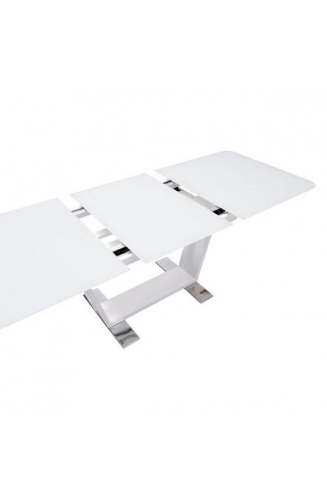 St Charles Extension Dining Table White