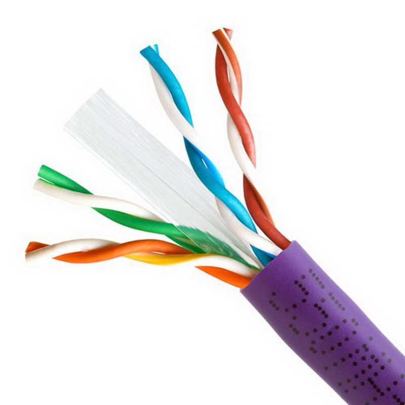 CAT6 BULK 23AWG ETHERNET LAN NETWORK CABLE - 1000 FT Purple