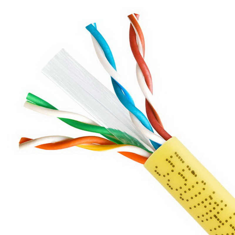 CAT6 BULK 23AWG ETHERNET LAN NETWORK CABLE - 1000 FT Yellow