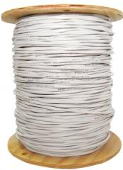 18/4 (18AWG 4C) Solid FPLR Fire Alarm / Security Cable, White, 1000 ft, Spool - 10F5-0491NH - 10F5-0491NH