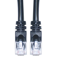 Cat5e Black Ethernet Patch Cable, Snagless/Molded Boot, 6 foot - 10X6-02206