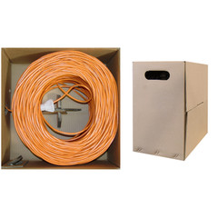 CAT5E, UTP, Bulk Cable, Solid, 350MHz, 24 AWG, Orange, 1000 ft - 10X6-031TH