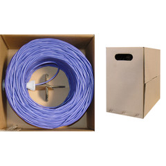 CAT5E, UTP, Bulk Cable, Solid, 350MHz, 24 AWG, Purple, 1000 ft - 10X6-041TH