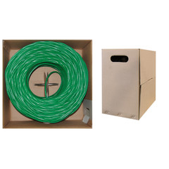 CAT5E, UTP, Bulk Cable, Solid, 350MHz, 24 AWG, Green, 1000 ft - 10X6-051TH - 10X6-051TH