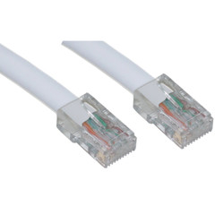 Cat5e White Ethernet Patch Cable, Bootless, 6 inch - 10X6-19100.5