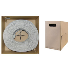 CAT5E STP Shielded Bulk Cable Stranded 350MHz 24 AWG Gray 1000 ft -10X6-521SH