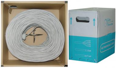 CAT5E, STP (Shielded), Bulk Cable, Solid, 350MHz, 24 AWG, Gray, 1000 ft - 10X6-521TH