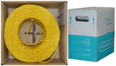 CAT5E, STP (Shielded), Bulk Cable, Solid, 350MHz, 24 AWG, Yellow, 1000 ft - 10X6-581TH
