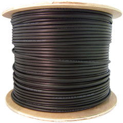 CAT5E, UTP CMX Outdoor / Direct Burial, 350MHz, Solid, 24 AWG, Black, 1000 ft, Spool - 10X6-622NH