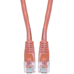 Cat6 Orange Ethernet Patch Cable, Snagless/Molded Boot, 35 foot - 10X8-03135