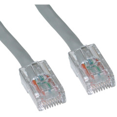 Cat6 Gray Ethernet Patch Cable, Bootless, 2 foot - 10X8-12102
