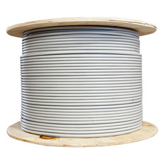 CAT6 STP (Shielded) 24AWG Solid 500MHz Bulk Cable Gray 1000 ft - 10X8-521NH