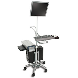 Aluminum Mobile Computing Workstation Cart