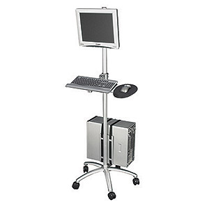 Aluminum Mobile Computer Workstation Cart II