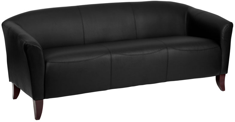 HERCULES Imperial Series Black Leather Sofa