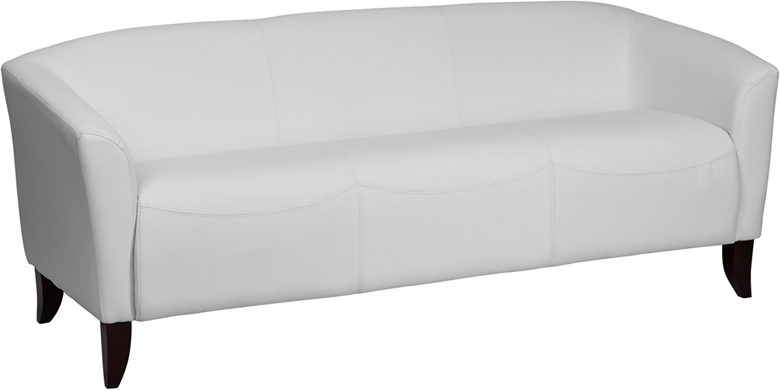 HERCULES Imperial Series White Leather Sofa