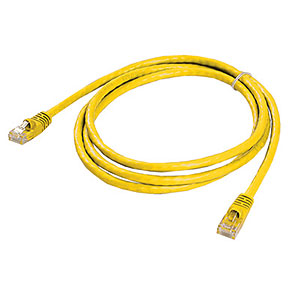 CAT6 Patch Cable, W/ Boot 5ft, Yellow