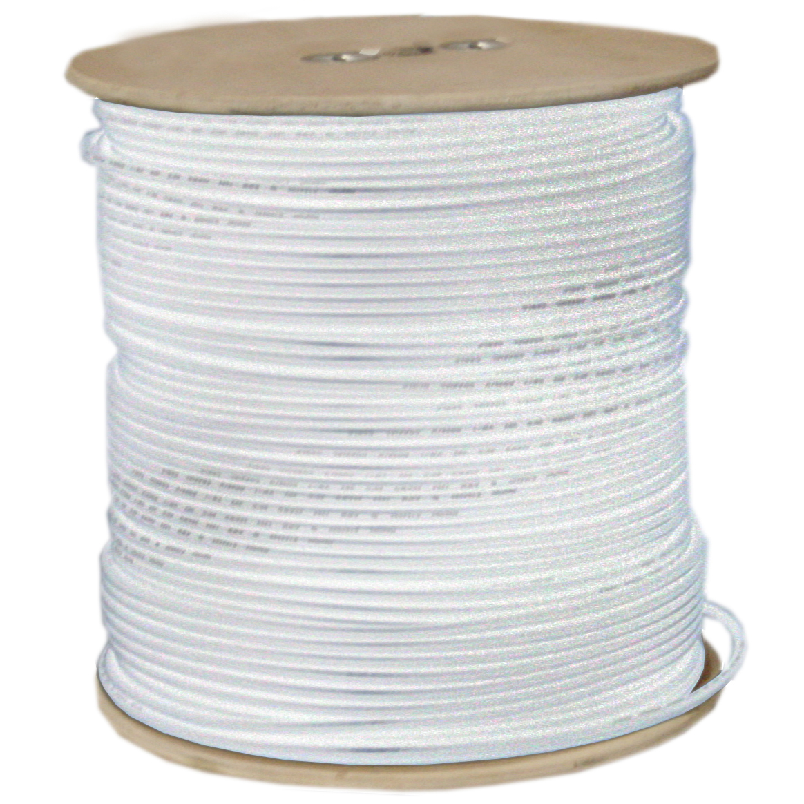 RG59 Siamese Plenum Solid Coaxial Cable + 18/2 (18AWG 2C) Power, White, Spool, 1000 ft - 11X3-18291NH