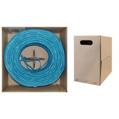CAT5E, UTP, Bulk Cable, Solid, Plenum, 350MHz, 24 AWG, Blue, 1000 ft - 11X6-061TH