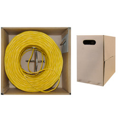 CAT5E, UTP, Bulk Cable, Solid, Plenum, 350MHz, 24 AWG, yellow 1000 ft - 11X6-081TH