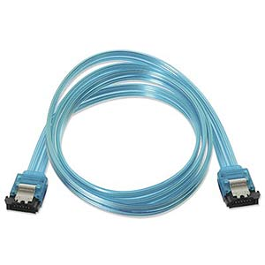 Sata Data Cable, 3gbps, 3ft., Straight, Blue