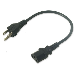 CPU Or Monitor Power Cable, 2ft - 120 2161