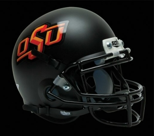 Oklahoma State Cowboys Schutt Mini Helmet - Black Alternate Helmet #3