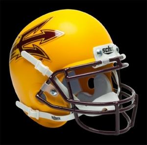 Arizona State Sun Devils Schutt Mini Helmet - Gold Alternate Helmet #1 - 1419504906