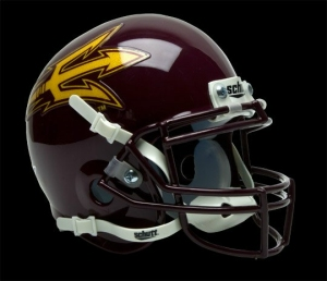 Arizona State Sun Devils Schutt Mini Helmet - Maroon Alternate Helmet #3 - 1419504928