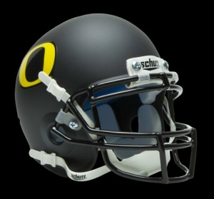 Oregon Ducks Schutt Mini Helmet -  Black w/DG Decal Alternate Helmet