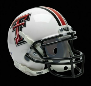 Texas Tech Red Raiders Schutt Mini Helmet - White Alternate Helmet