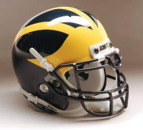 Michigan Wolverines Schutt Mini Helmet - 1419572020