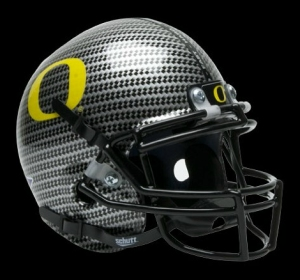 Oregon Ducks Schutt Mini Helmet - Carbon Fiber Alternate Helmet #4