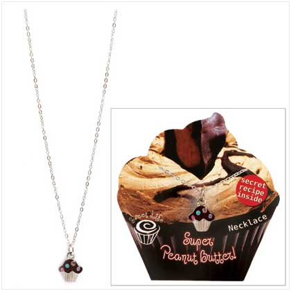 Peanut Butter Cupcake Necklace - 14387