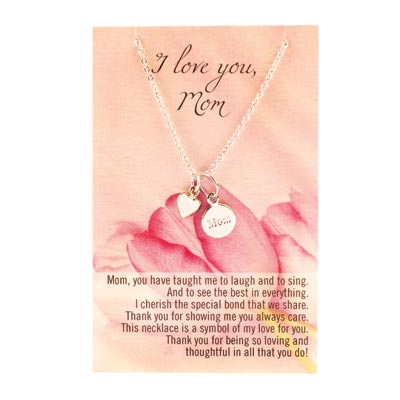 I Love You Mom Necklace - 14757
