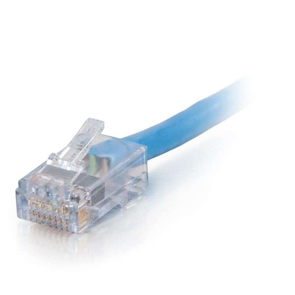 CablesToGo (C2G) 15285 25ft Cat6 Non-Booted UTP Unshielded Ethernet Network Patch Cable - Plenum CMP-Rated - Blue