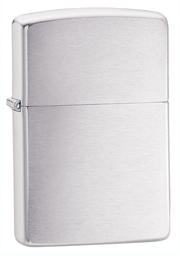 Brushed Chrome Armor Heavy Wall Zippo - 162 - 162_jb