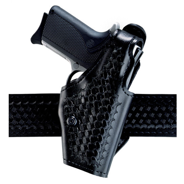 Safariland 2 Hi-Ride Level I Duty Holster, RH, B/W Black, S&W Sigma 9F - 2-40-91-2R