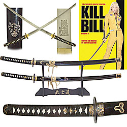 KILL BILL Katanas Two Sword Set with Display Stand - 20-sw3203