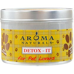 Detox-it Aromatherapy By  One 2.5x1.75 Inch Soy/beeswax Blend Aromatherapy Candle For Pet Lovers. Rebalance Room Odors With Natural Beeswax, Sunflower, Soy & Rice Bran Wax.  Burns Approx. 15 Hrs. - 229443.FragN