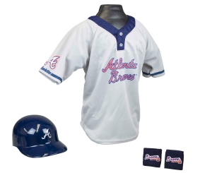 Atlanta Braves Baseball Helmet and Jersey Set