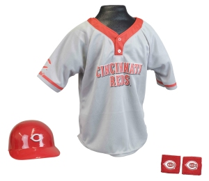 Cincinnati Reds Baseball Helmet and Jersey Set