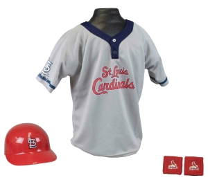 St. Louis Cardinals Baseball Helmet and Jersey Set - 2572536598