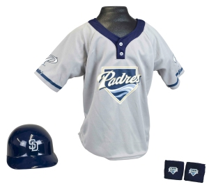 San Diego Padres Baseball Helmet and Jersey Set