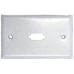 1 Port DB9 / HD15 (VGA) Stainless Wall Plate - 301-1-9