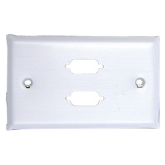 2 Port DB9 / HD15 (VGA) Stainless Wall Plate - 301-2-9